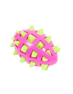 BITE TOY PALLA RUGBY SPIKY BICOLORE